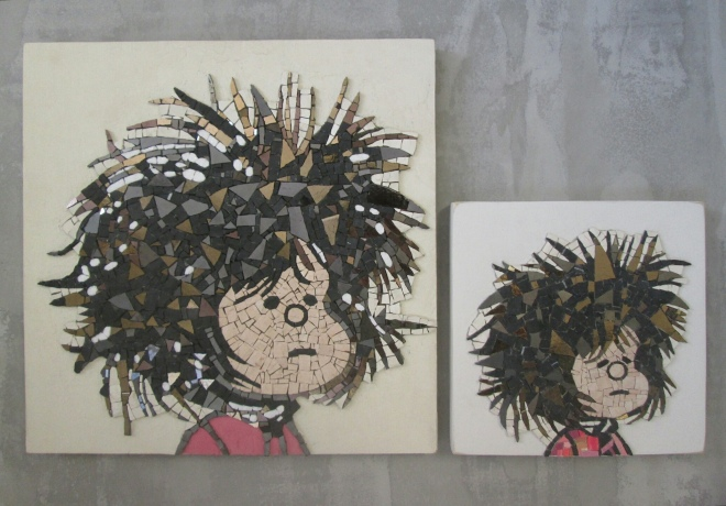 Mafalda, stesso disegno per due formati differenti