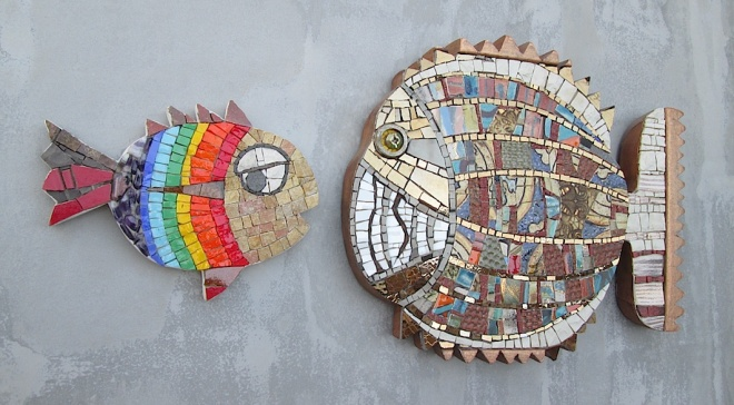 Rainbow fish versus Patchwork pirana