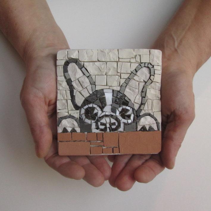 Boston Terrier mosaic