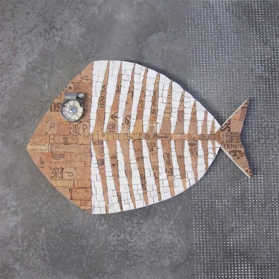 Fishbone cork art