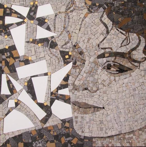 MIchael Jackson mosaic mirror